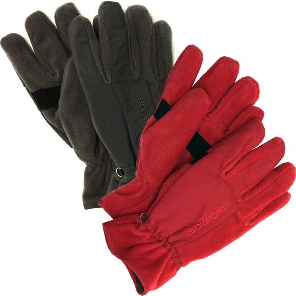 Isotoner Men's Polar Fleece Insolated Gloves
