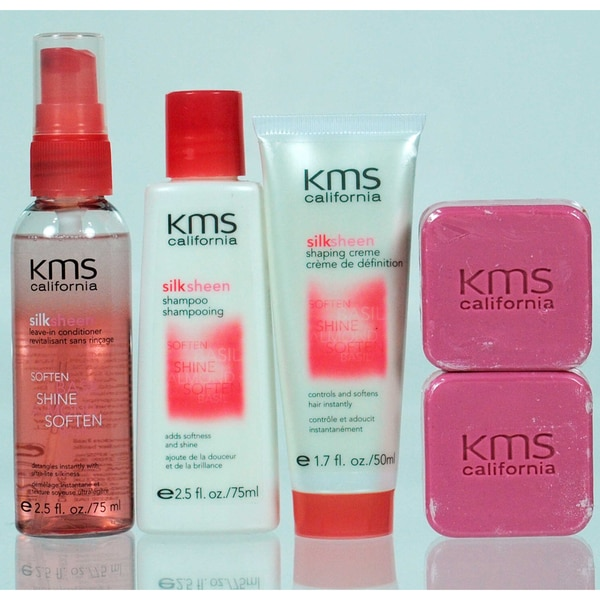 KMS California Silk Sheen Basil Almond Travel Kit