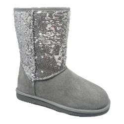 Girls' Lamo Sequin Boot Grey/Silver