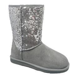 Girls' Lamo Sequin Boot Grey/Silver