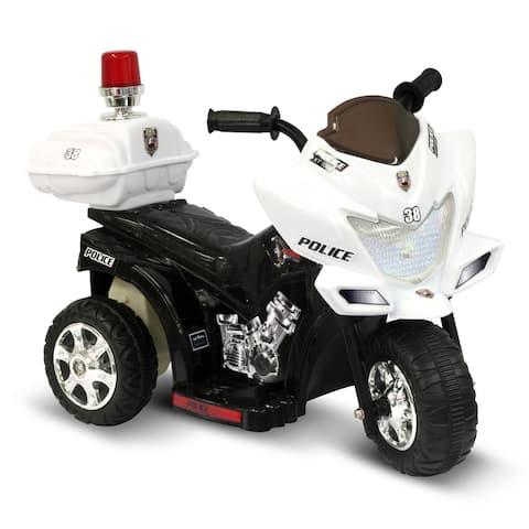 Lil Patrol Black Police Themed Rider - White