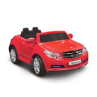 Mercedes Benz E550 Red 1-seater Riding Toy