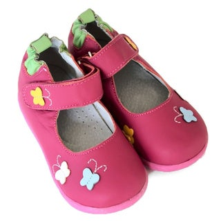 Papush Girl's Pink Butterflies Shoes