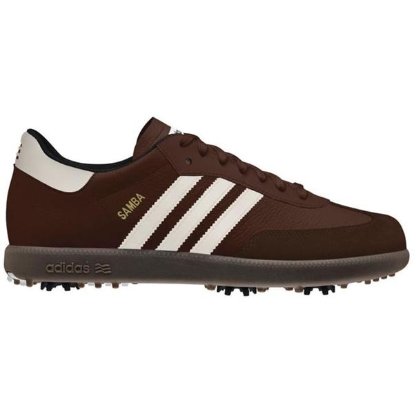 Mens Adidas Samba Golf Brown Golf Shoes