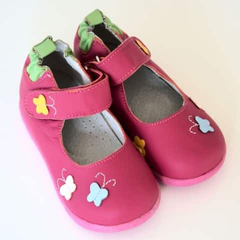 Papush Girl's Butterflies Walking Shoes
