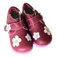 Papush Girl's Red Flowers Walking Shoes