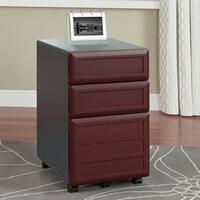 Ameriwood Home Pursuit Brown Laminate 3-drawer Mobile File
