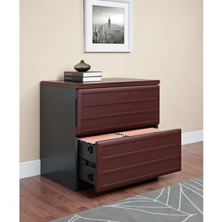 Ameriwood Home Pursuit Cherry/ Grey Lateral File