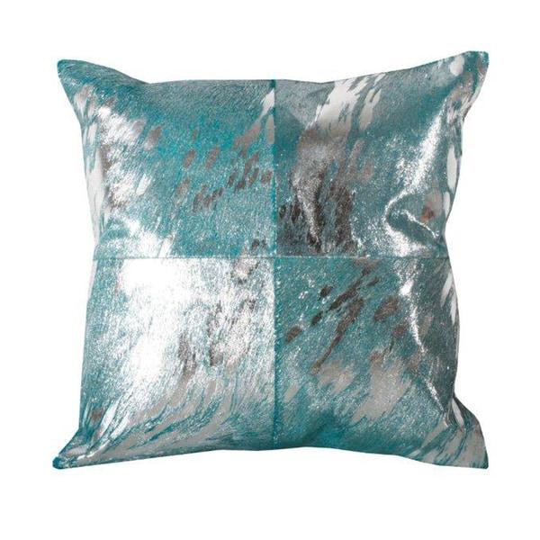 Marlo Lorenz Metallic Square 16-inch Decorative Pillow