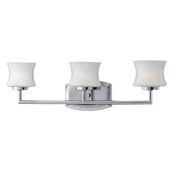 Triarch International Chrome 3-light Vanity Light
