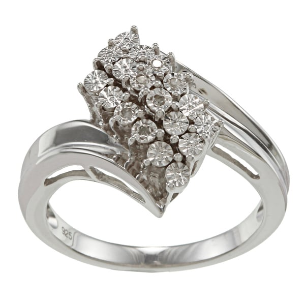 Sterling Silver Diamond Accent Fashion Ring By Ever One