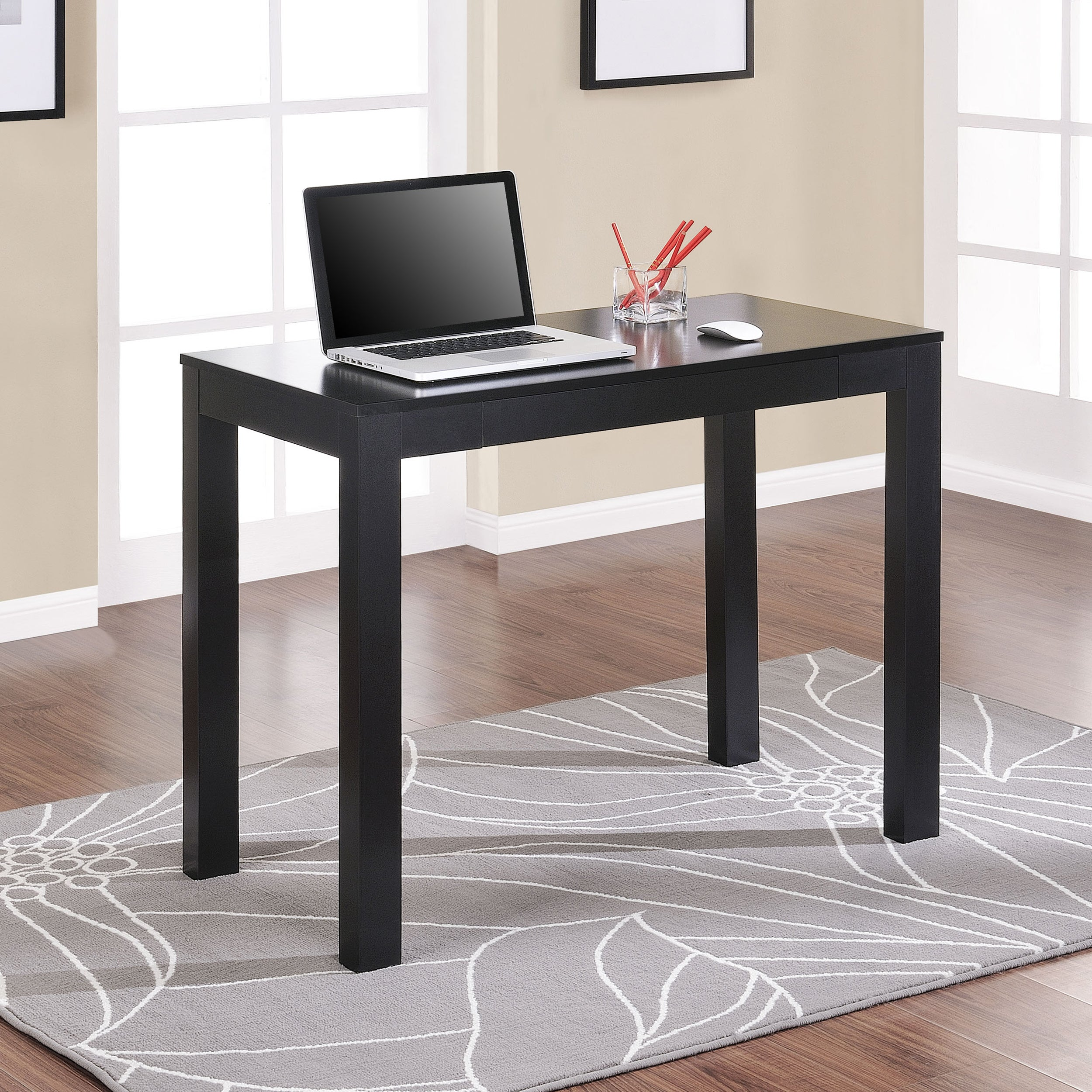 Ameriwood Home Parsons Black Writing Desk