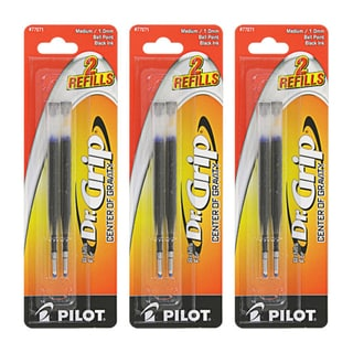 Pilot Dr. Grip Center of Gravity Ballpoint Pen Refills (Pack of 6)