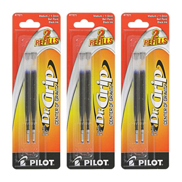 Pilot Dr. Grip Center of Gravity Ballpoint Pen Refills (Pack of 6)