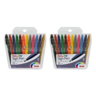 Shop Pentel Felt Tip Sign Pen Set Pack Of 2 Sets Free