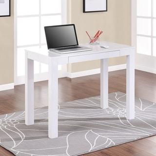 Single-drawer White Parsons Desk