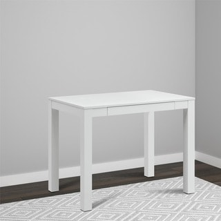 single drawer white parsons desk - Home Office Contemporary Furniture