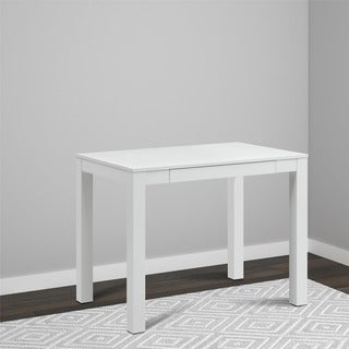 Single-drawer White Parsons Desk