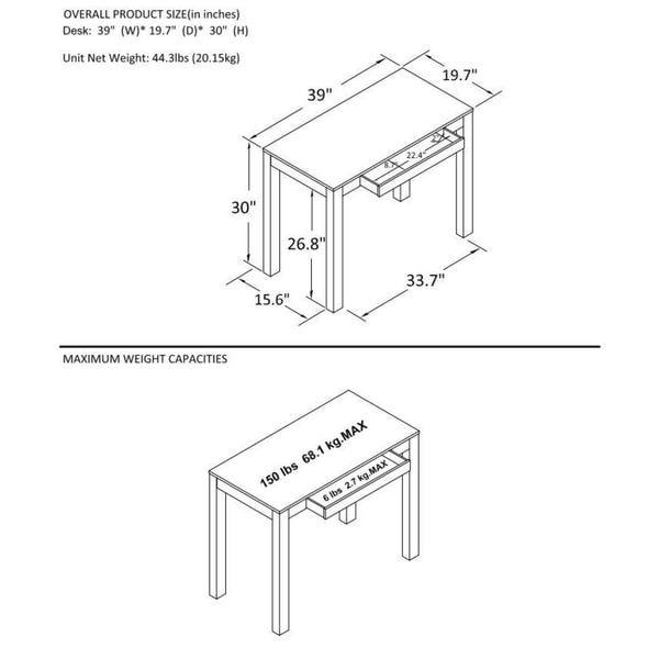 Porch & Den Alley White Desk