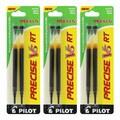 Pilot Precise V5 Rt Rollerball Refills (Pack of 6)