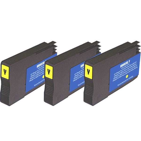 HP 951XL Yellow Ink Cartridge (Pack of 3) (Remanufactured)