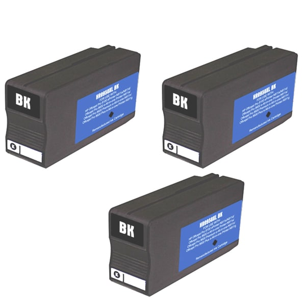 HP 950XL Black Ink Cartridge (Pack of 3) (Remanufactured)
