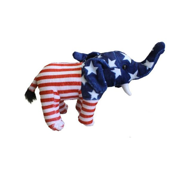 Encore Select 8-inch Stars and Stripes Beanbag Elephant Toy