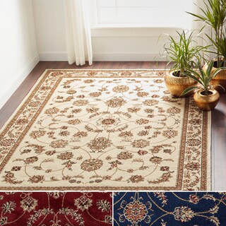 Admire Home Living Amalfi Flora Area Rug (Option: Red)