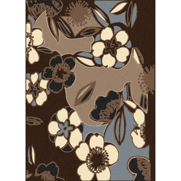 Admire Home Living Artisan Flowers Area Rug (3'3 x 4'11)