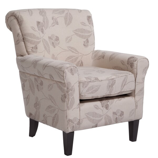 Fontaine Embroidered Beige Club Chair By Christopher Knight Home