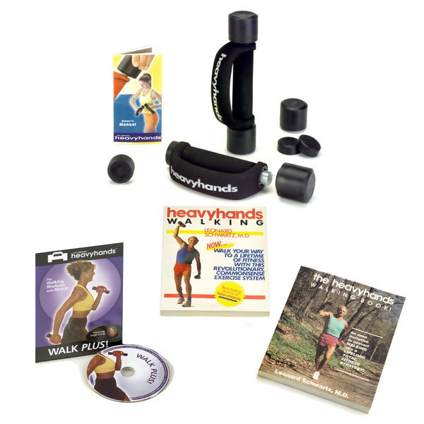 Heavyhands Combo Walk Plus Fitness Pack with Walk Plus DVD