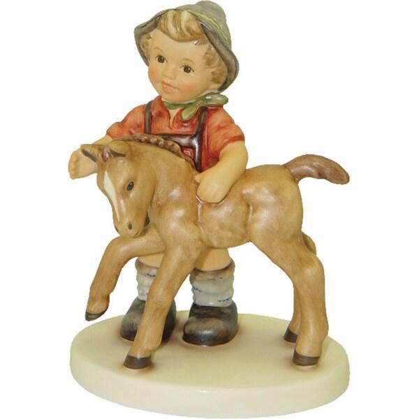 M I Hummel Multi-colred Porcelain Colt Statue