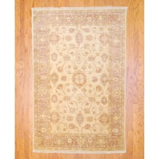 Herat Oriental Afghan Hand-knotted Vegetable Dye Wool Rug (4'10 x 7'3)