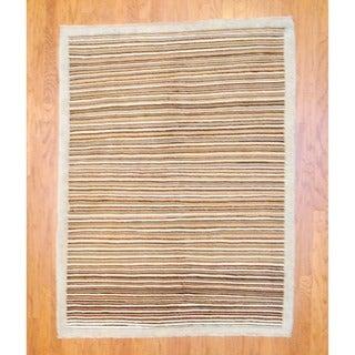 Herat Oriental Afghan Hand-knotted Vegetable Dye Wool Rug (5' x 6'6)