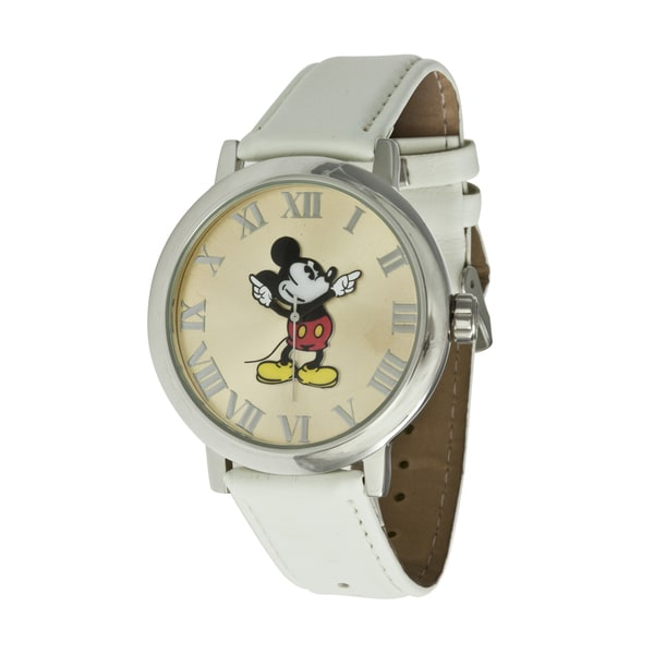 Disney Ingersoll White Mickey Mouse Watch