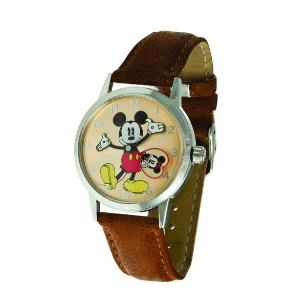 Disney Ingersoll Tan Mickey Mouse Watch