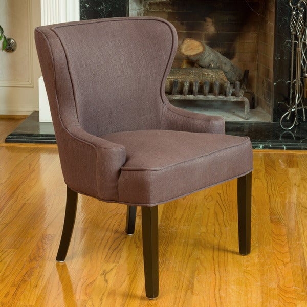 Denver Chocolate Brown Fabric Accent Chair by Christopher Knight Home