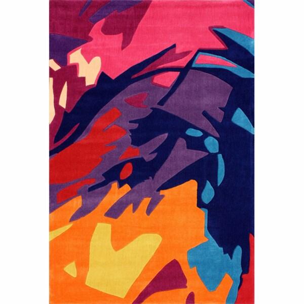 nuLOOM Handmade Kid's Modern Abstract Splash Multi Rug