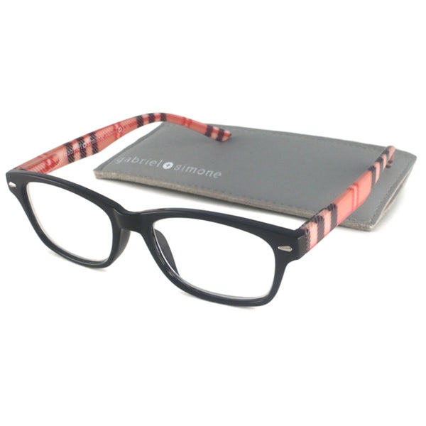 Gabriel+Simone Readers Women's Jardin Black Rectangular Reading Glasses
