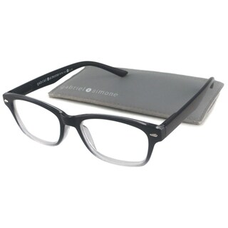 Gabriel + Simone Readers Unisex Metro Black Rectangular Reading Glasses