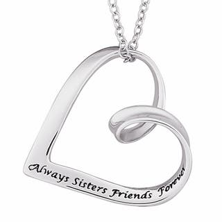 Sterling Silver Sisters Sentiment Heart Necklace|https://ak1.ostkcdn.com/images/products/7341232/7341232/Sterling-Silver-Sisters-Sentiment-Heart-Necklace-P14806113.jpg?impolicy=medium