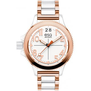 ESQ by Movado Women's 07101403 Fusion Rose-Ion Plated Strap Watch