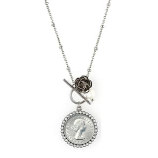 American Coin Treasures Lucky British Sixpence Rose Toggle Necklace|https://ak1.ostkcdn.com/images/products/7341264/7341264/American-Coin-Treasures-Lucky-British-Sixpence-Rose-Toggle-Necklace-P14806135.jpg?impolicy=medium