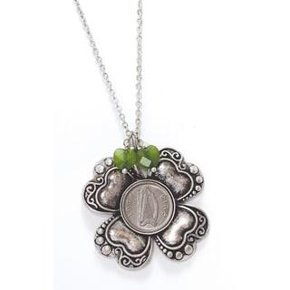 American Coin Treasures Irish Threepence Four Leaf Clover Pendant
