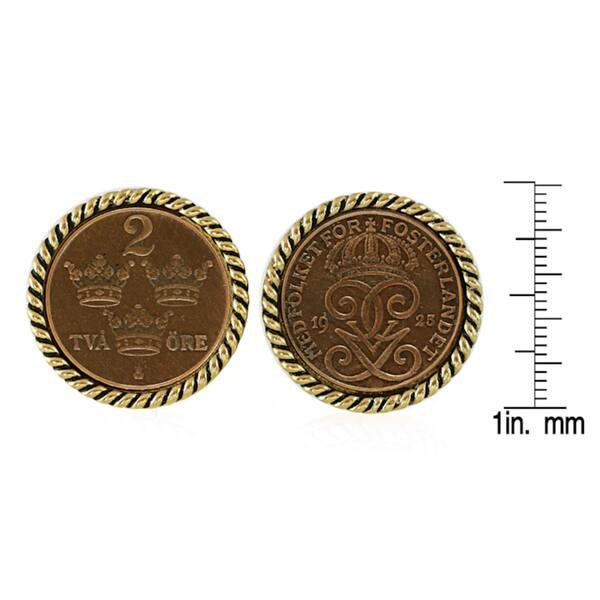18 mm Sweden coin cufflinks Men gift