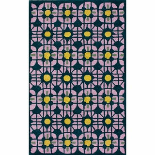 nuLOOM Handmade Modern Trellis Multi Wool Rug