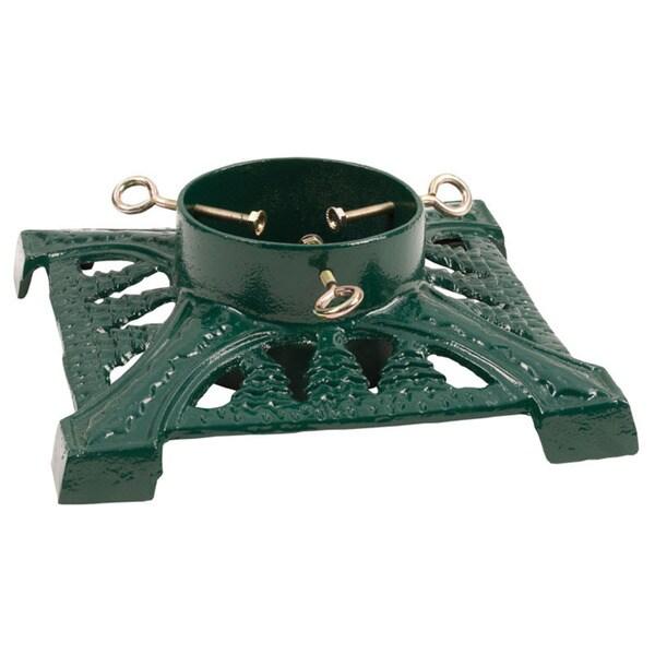 Good Tidings Green Cast Iron Tree Stand