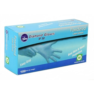 Diamond Natural White Powdered Latex Gloves (Case of 1000)