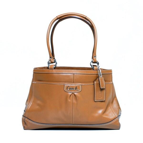 Coach Caramel Leather Carry-all Bag