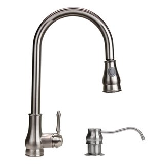 Dyconn Brushed Nickel 18-inch Lever Handle Faucet